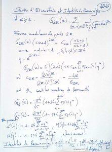 46726 - Séries d'Eisenstein et Identités de Ramanujan. (Dessin)