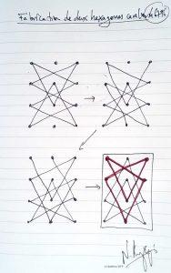 46796 -Fabrication de deux hexagones cavalier. (Dessin)