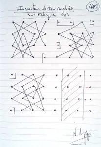 46797 - Existence de tour cavalier sur échiquier 4x4. (Dessin)