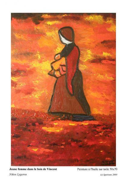 Jeune femme dans le bois de Vincent