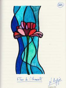 47694 - Fleur de l'Humanité. (Dessin)