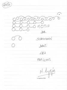 48857 - MOTIF DE SCHUMANN DANS LES PAPILLONS. (Dessin)