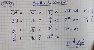 53159 - Voyelles du Sanskrit. (Dessin)