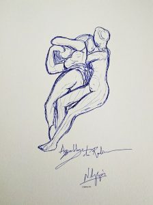53486-Assemblage de Rodin. (Dessin)