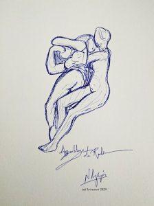 53486 - Assemblage de Rodin. (Dessin)