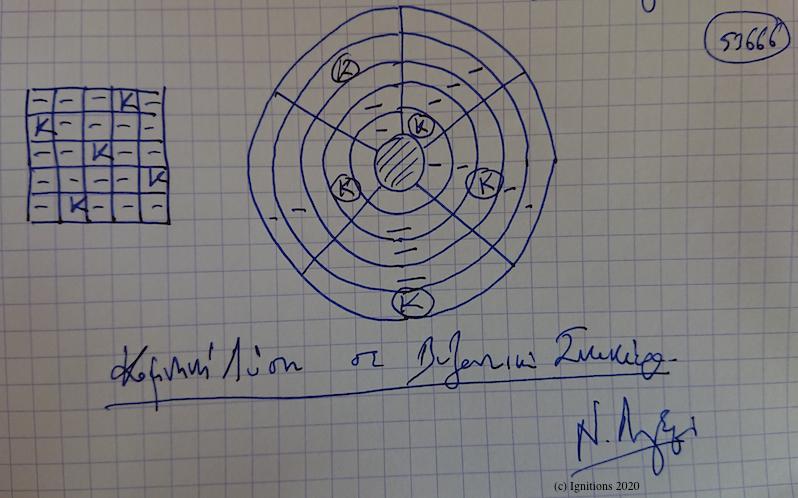 53666 - Κομνηνή Λύση σε Βυζαντινή Σκακιέρα. (Dessin)