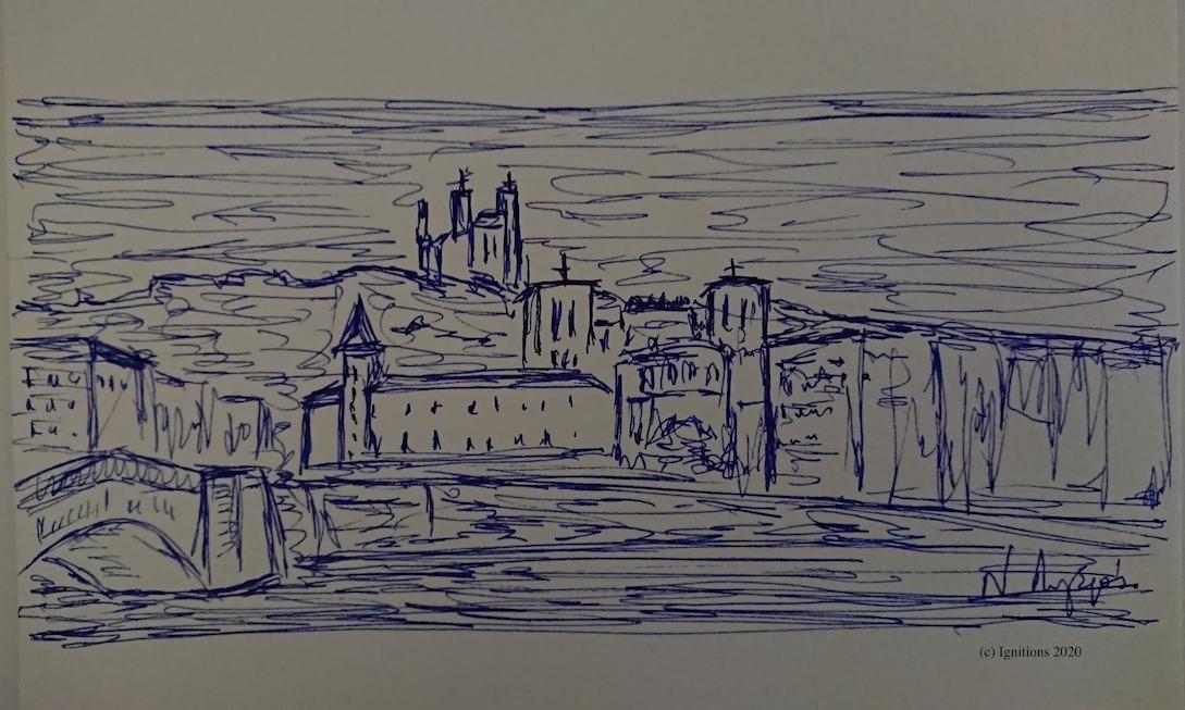 54611 - Πέτρινη πόλη. (Dessin)