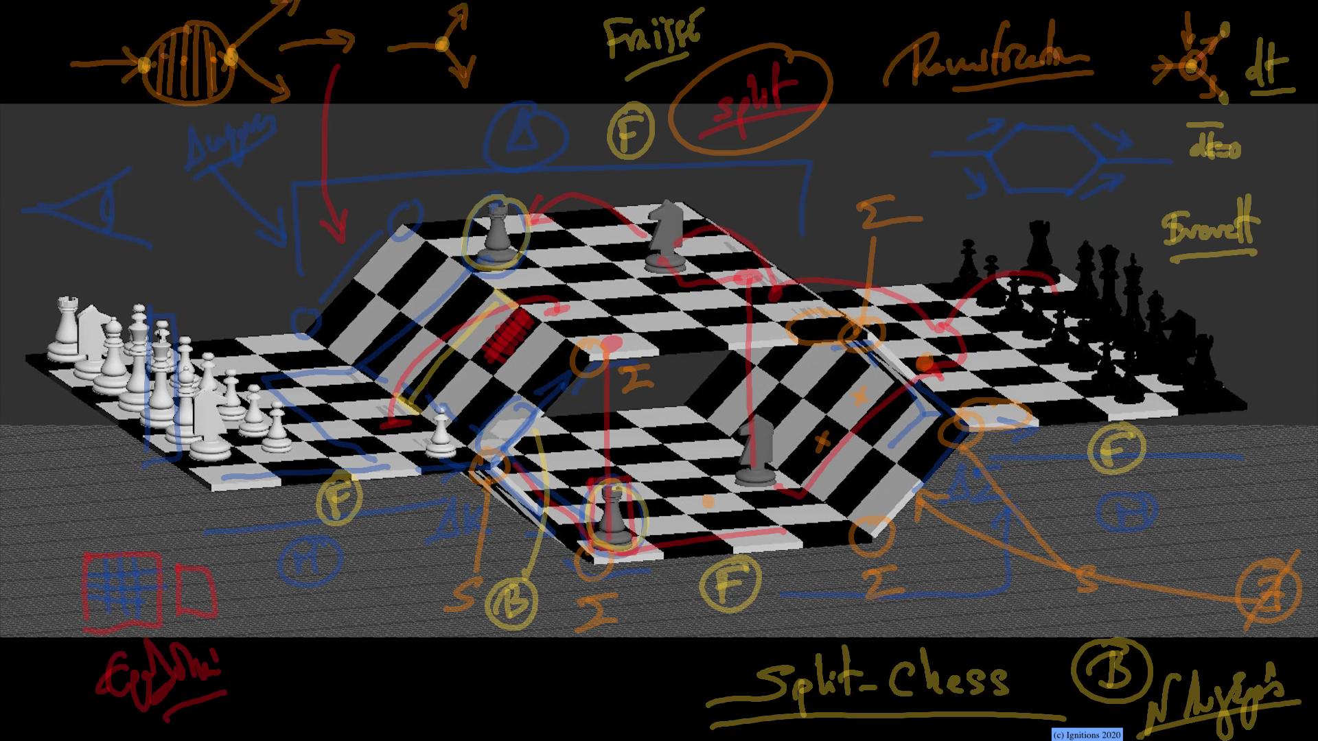 55742 - e-Μάθημα: Split Chess. (Dessin)