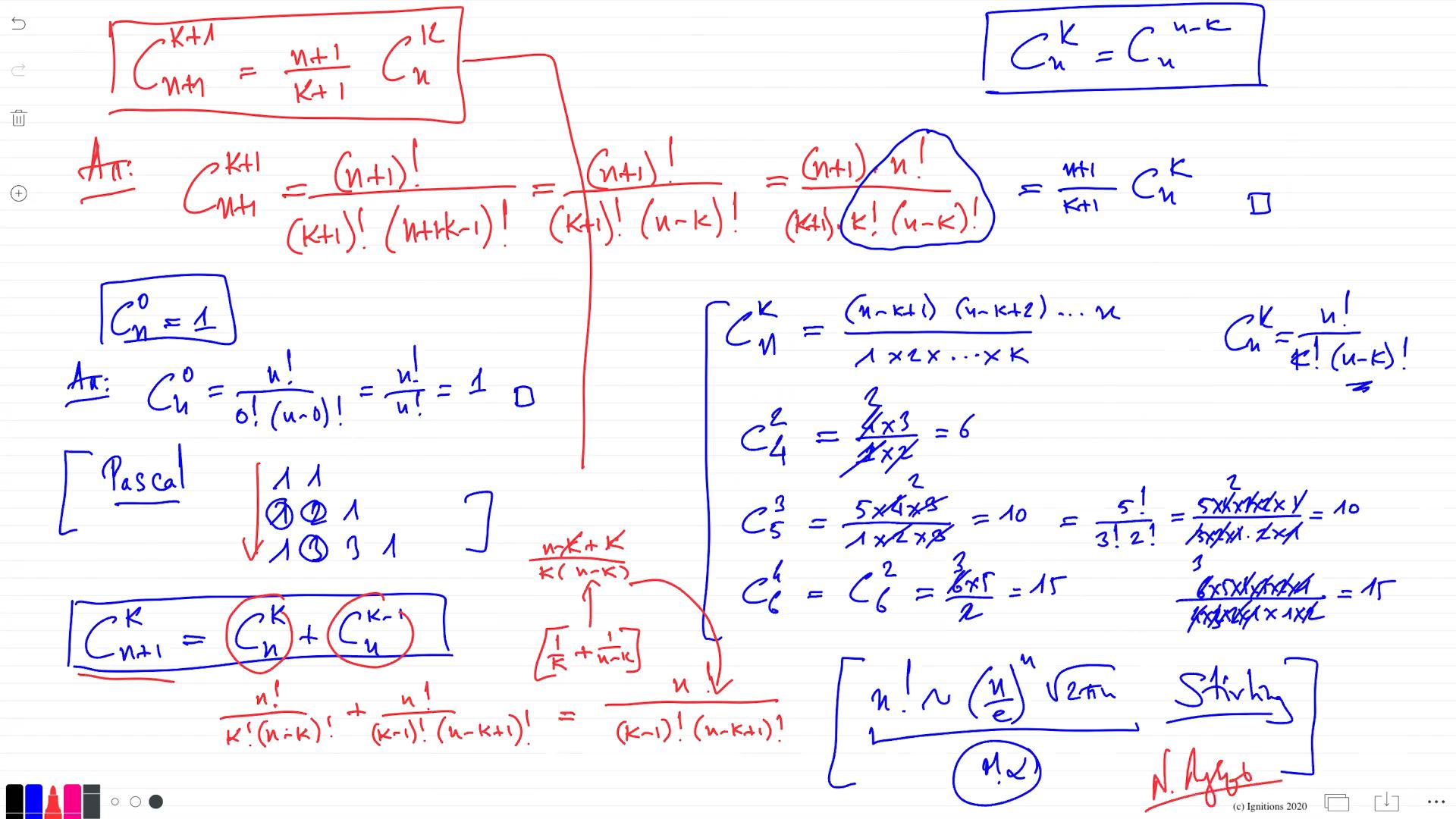 55848 - e-Μάθημα II: Συνδυασμοί, Διατάξεις, Pascal, Newton, Leibniz. (Dessin)