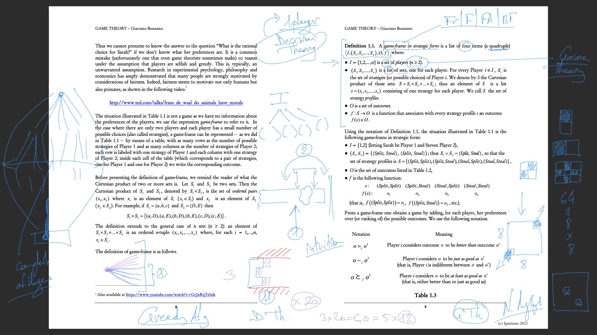 58039 - e-Lesson II: Corona Virus & Game Theory. (Dessin)