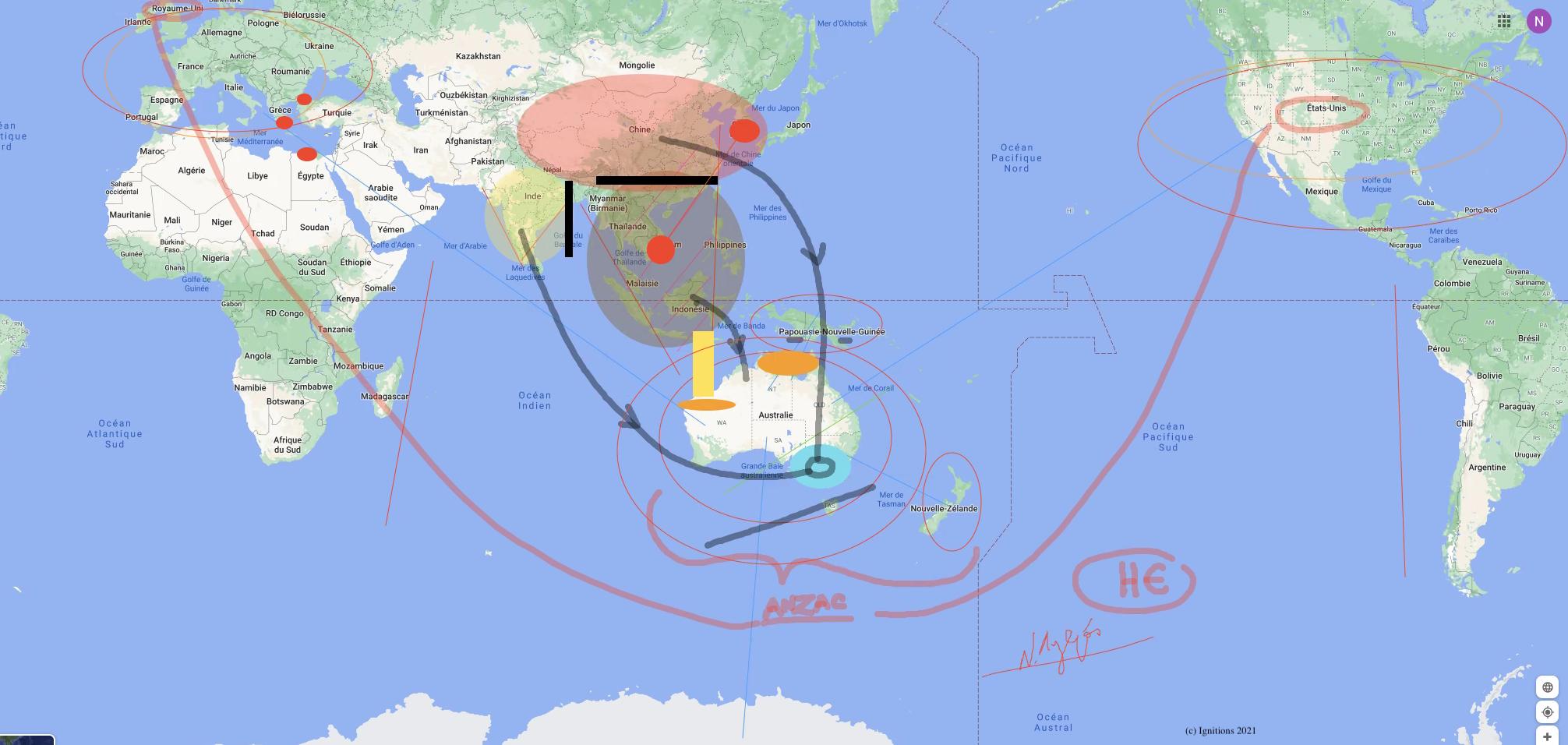 58944 - e-Lesson III: Strategy and Geostrategy of Australia. (Dessin)