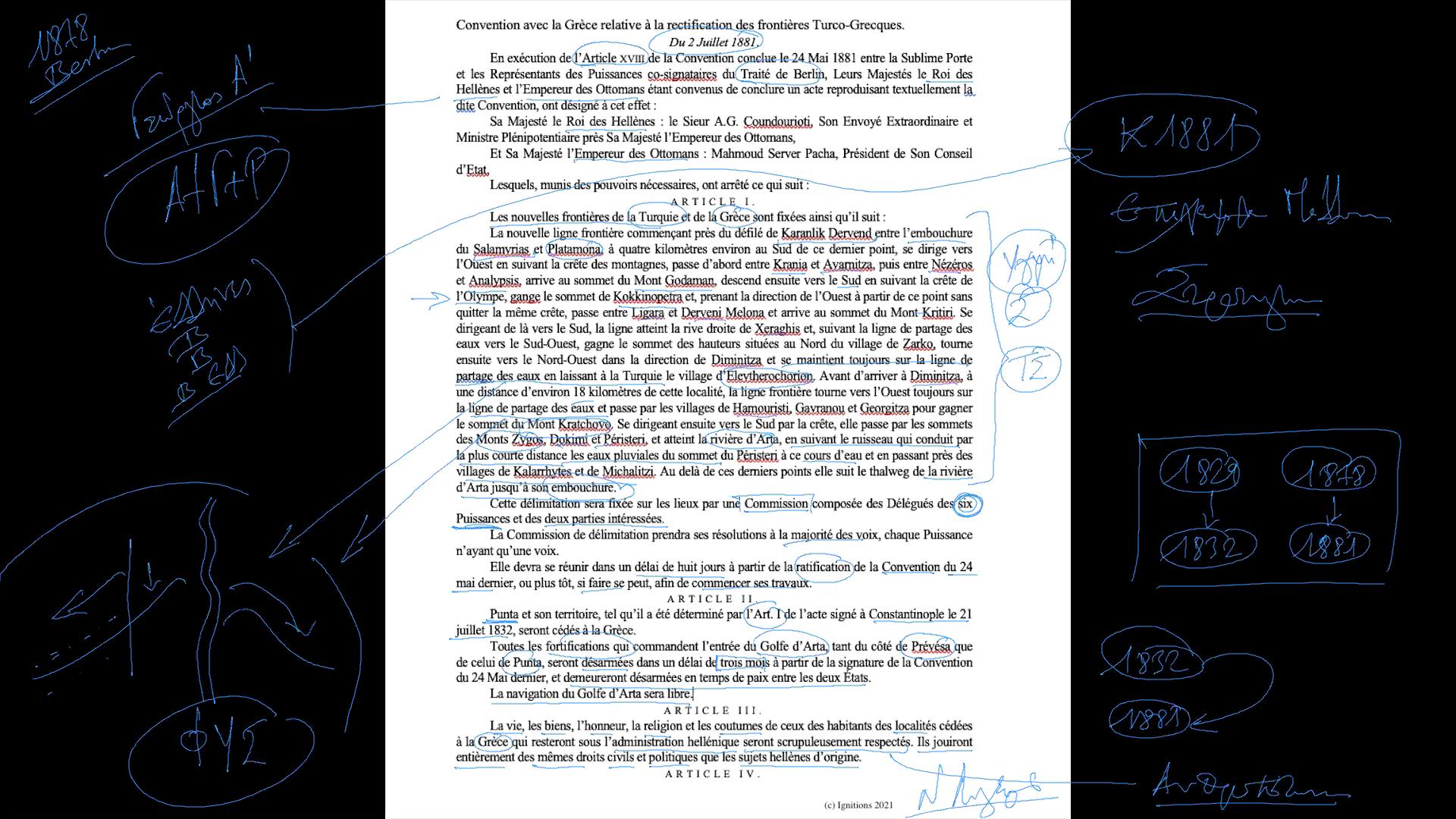 59005 - V -Η συμβολή του Φιλελληνισμού στην στρατηγική θεμελίωση της Ελλάδας. (Dessin)