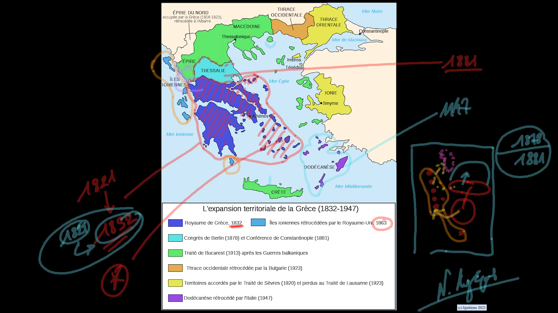 59089 - VII - Στρατηγική αναδίπλωση Ελλάδας και χρονικές γέφυρες. Επανάσταση IV. (Dessin)