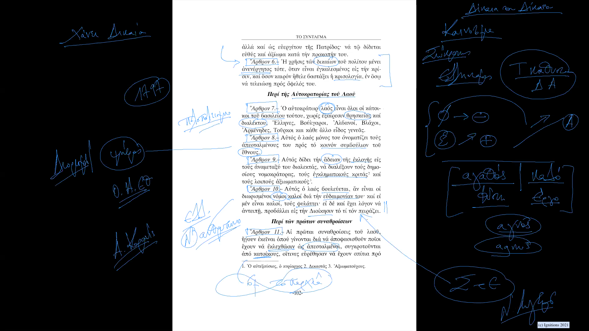 59270 - IΙ - Το επαναστατικό σύνταγμα του Ρήγα Φεραίου. Επανάσταση VII. (Dessin)
