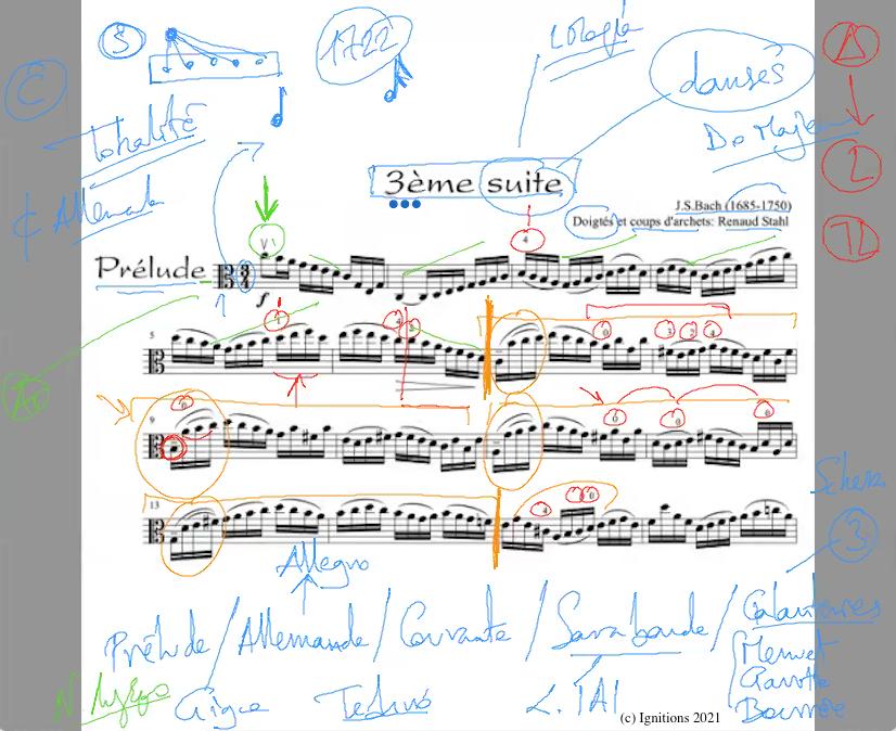 59285 - e-Μάθημα: Prélude de la 3ème Suite de Bach. (Dessin)