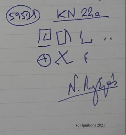 59531 - KN 22a. (Dessin)