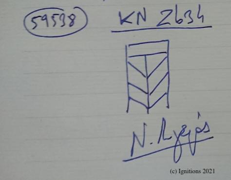 59538 - KN Zb34. (Dessin)