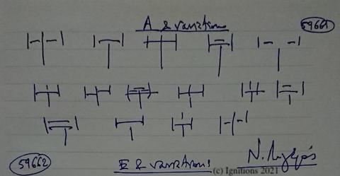 59661 - A & variations. (Dessin)