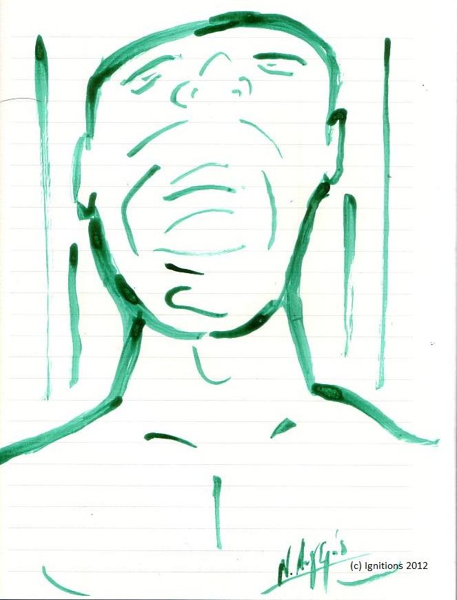 L'enfer vert (Encre de Chine sur cahier)