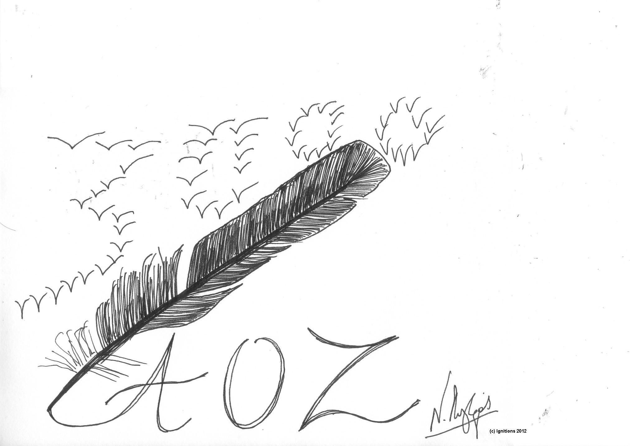 AOZ, 3000. (Dessin sur papier Canson extra blanc, A5, 14.8x21)