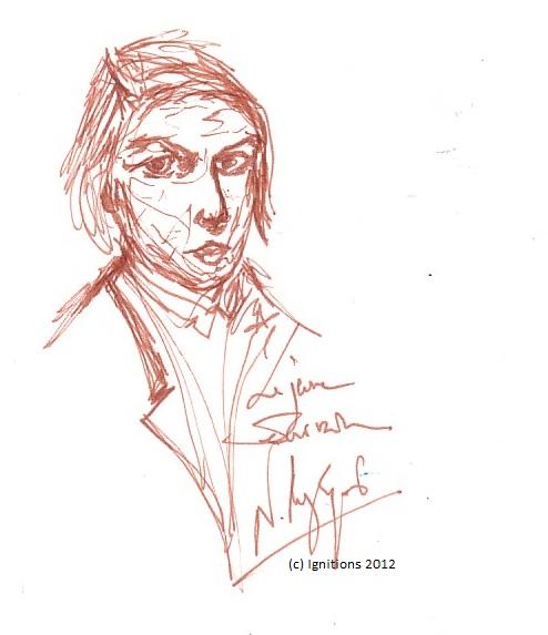 Le jeune écrivain. (Dessin sur Extra blanc, grain adouci, 14.8x21, A5)