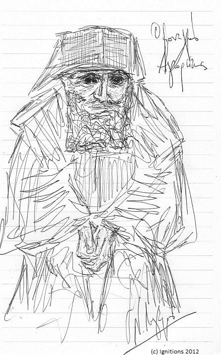 Ο μοναχός Αγιορείτης. (Dessins).