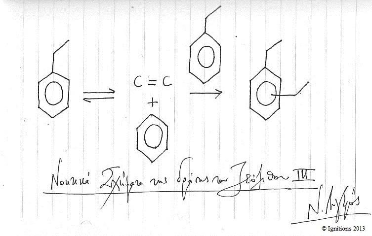 Νοητικά Σχήματα της δράσης του Ζεόλιθου III (Dessin sur cahier)