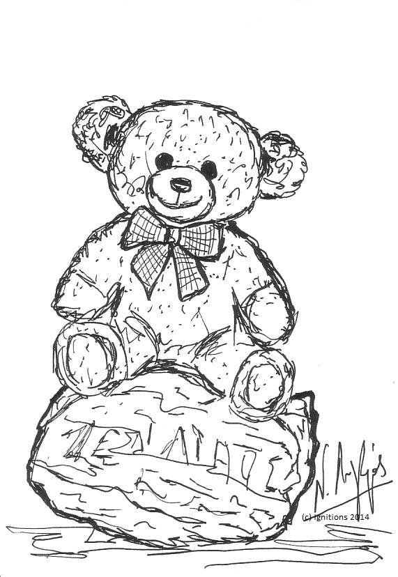 Ζεολιθικό αρκουδάκι. (Dessin).
