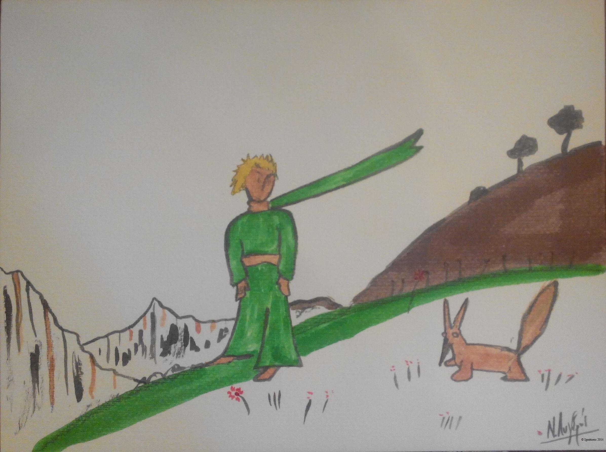 Ο Μικρός Πρίγκιπας και η αλεπού. (Encre de Chine)