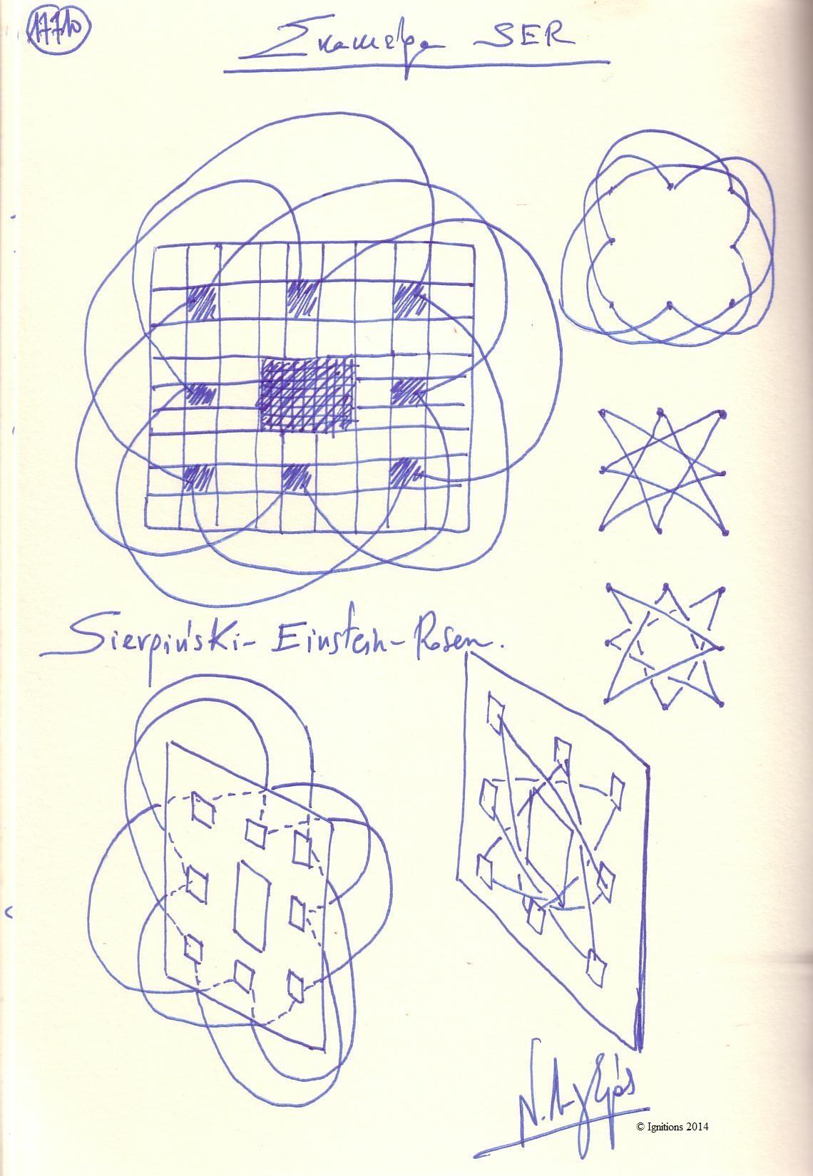Σκακιέρα SER. (Dessin sur cahier)