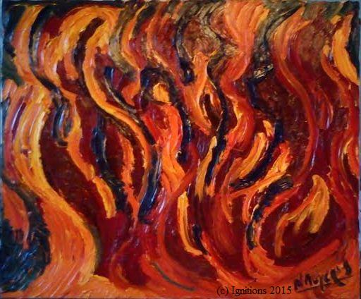 1915 l'Année des Saints. (Huile sur toile de lin fin, 15F, 65x54)