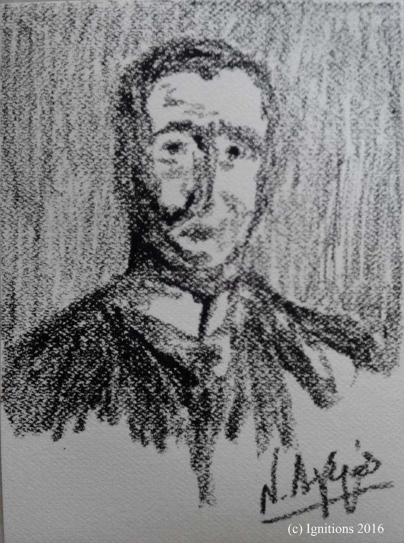 C. Carathéodory - Göttingen 1904. (Sur bloc Fabriano 23x31).