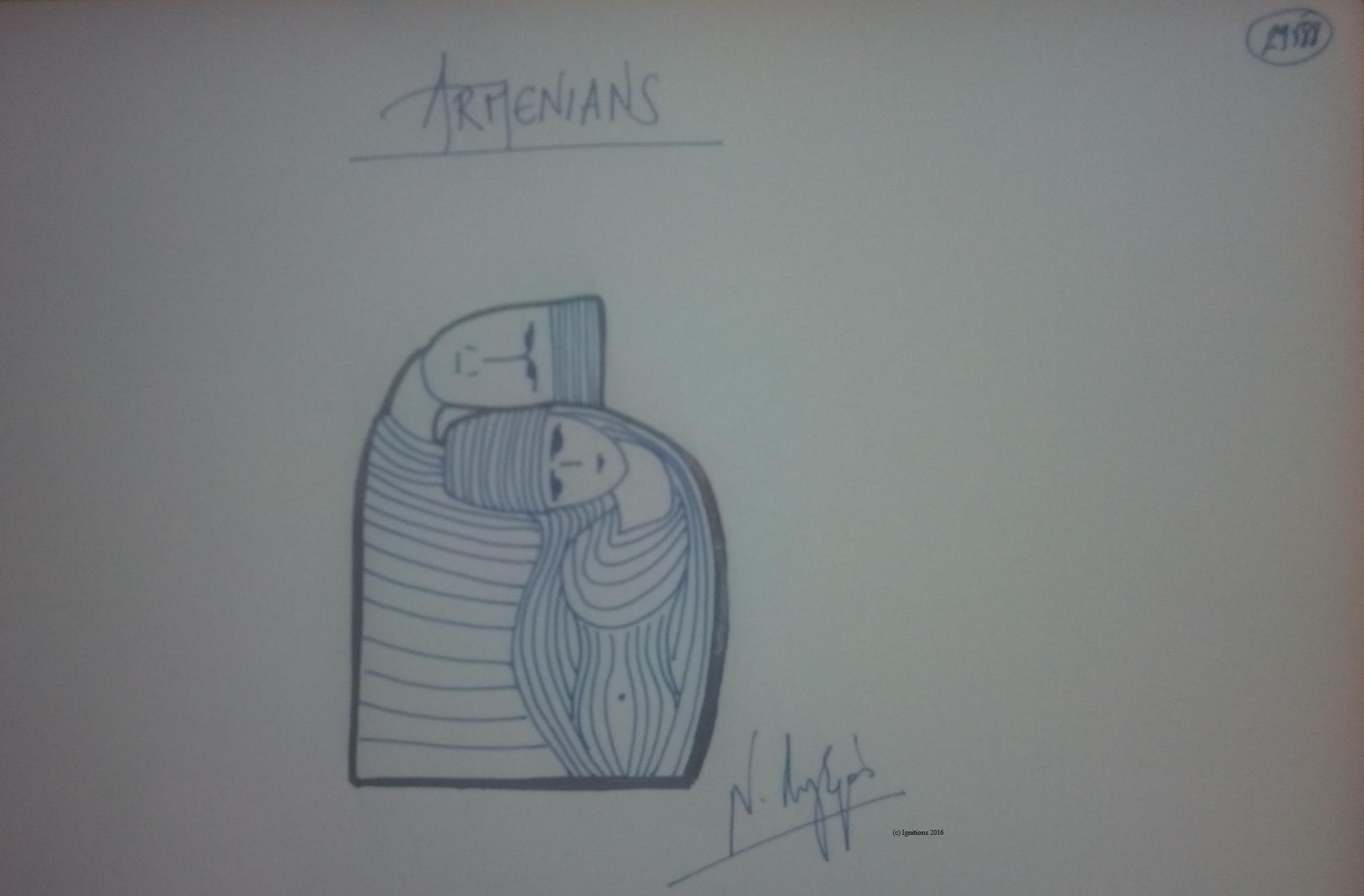 ARMENIANS. (Dessin au feutre).