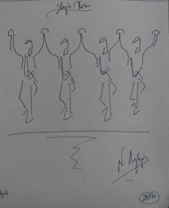 29770 - Χορός Πόντου. (Dessin au feutre).