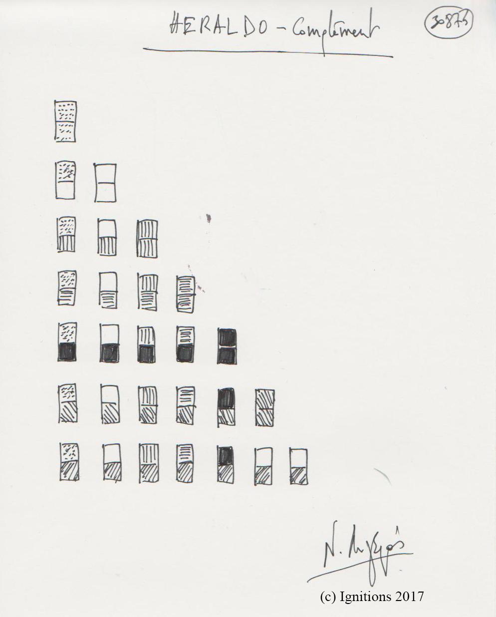 HERALDO - Complément. (Dessin sur cahier).