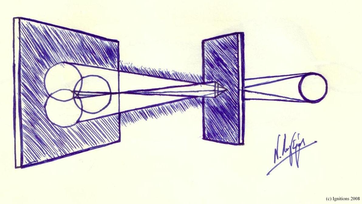 Raggi luminosi di Leonardo da Vinci