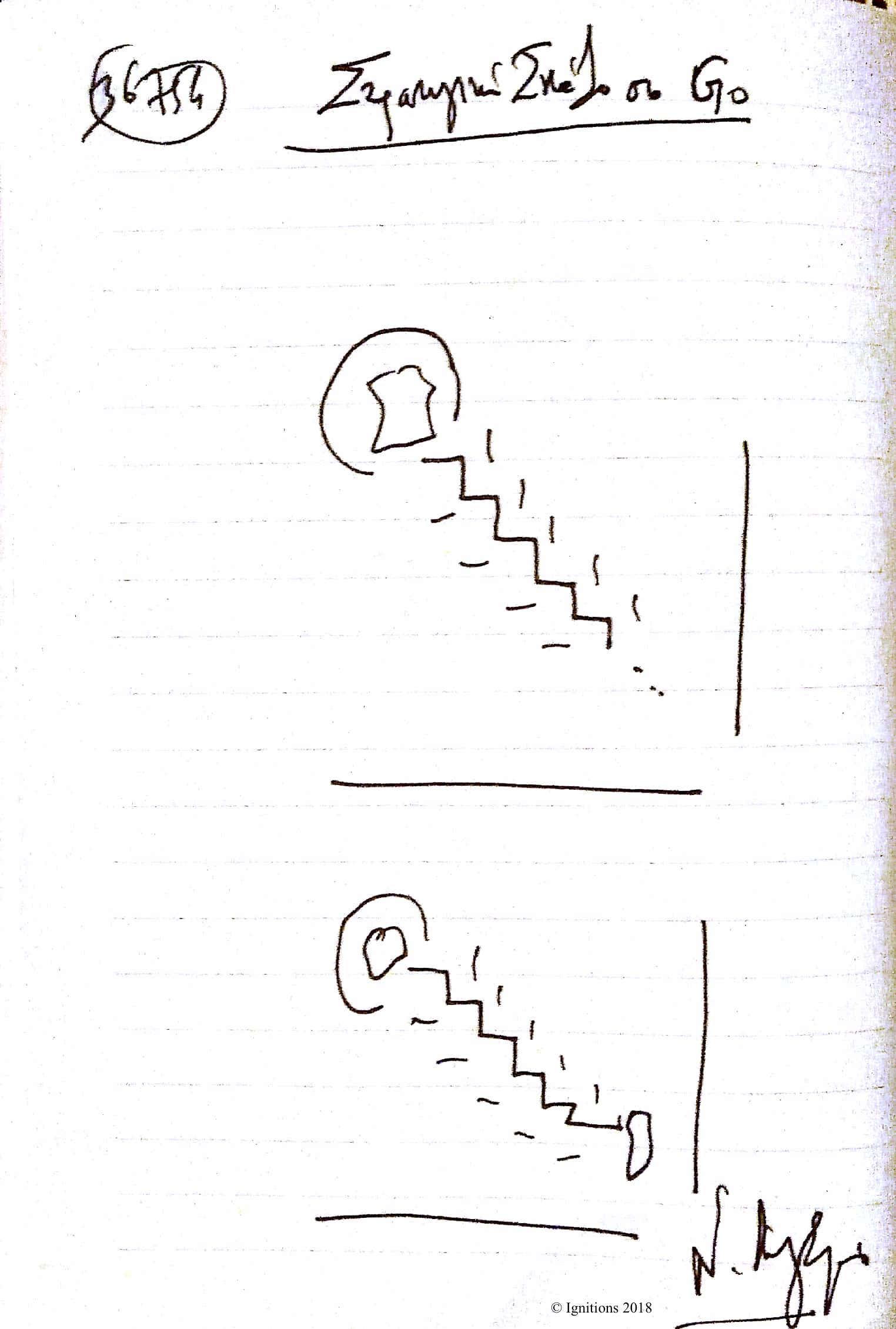 Στρατηγική Σκάλα στο Go. (Dessin au feutre)