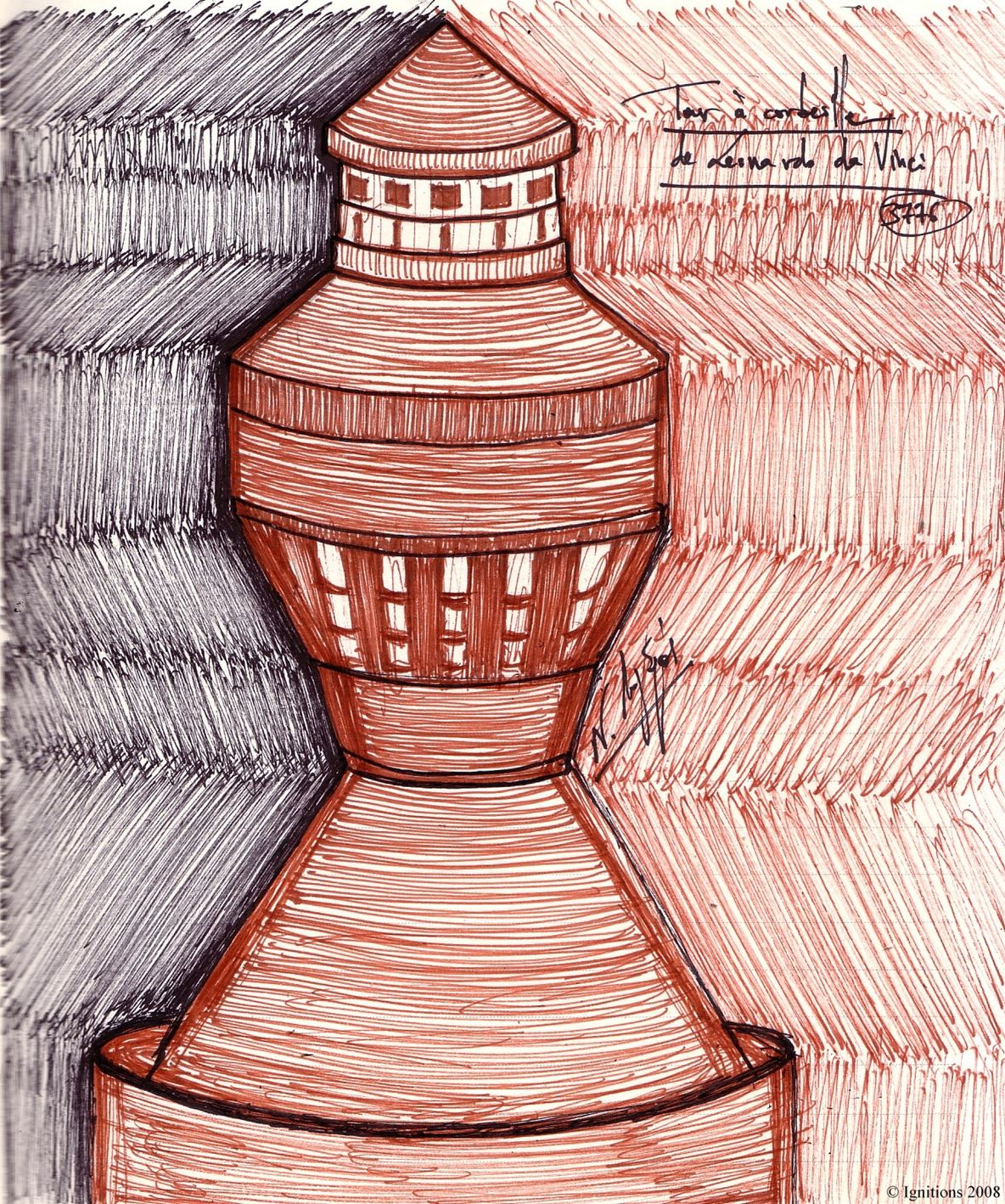 Tour à corbeille de Leonardo da Vinci