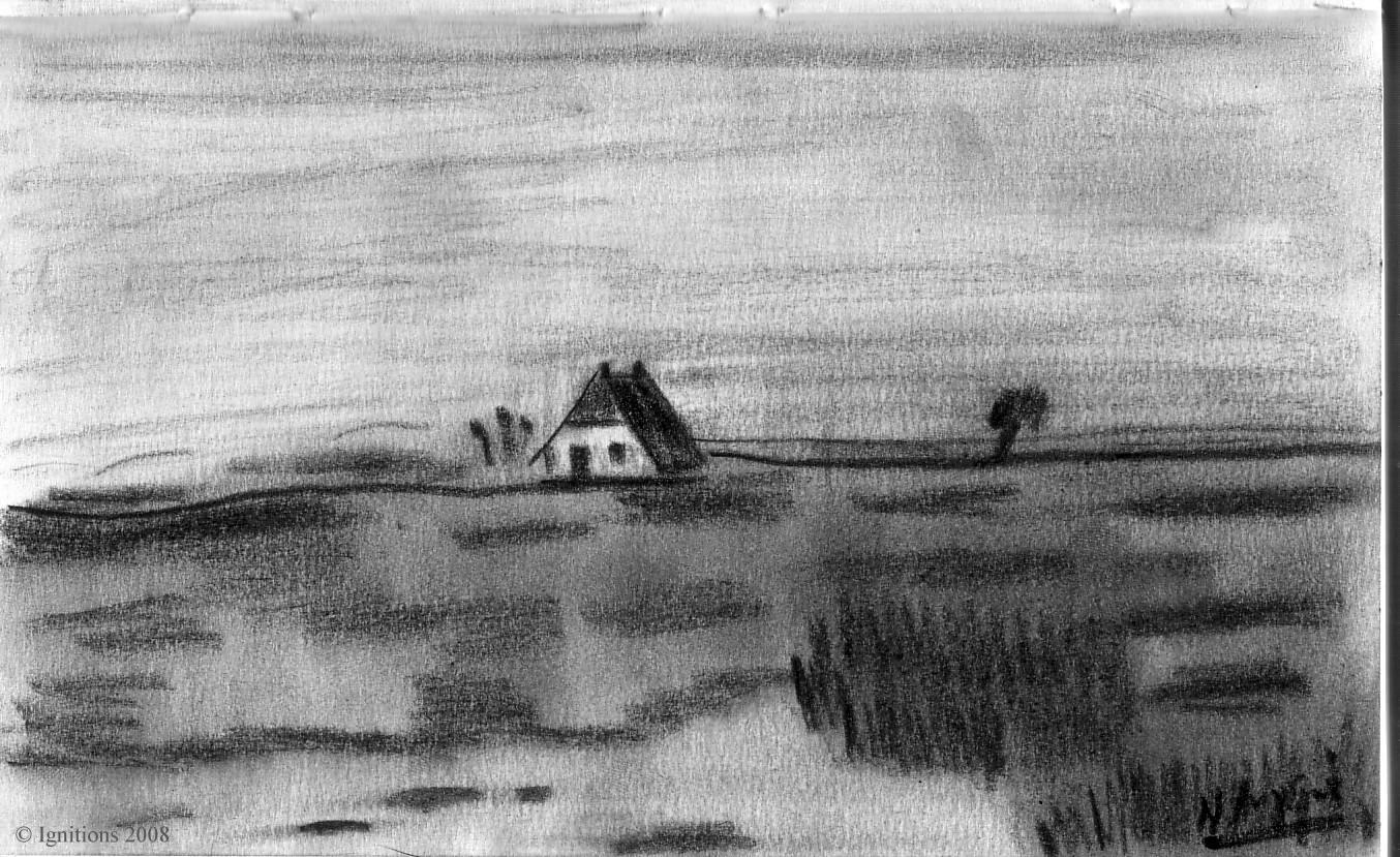 Paysage et ferme de Vincent.