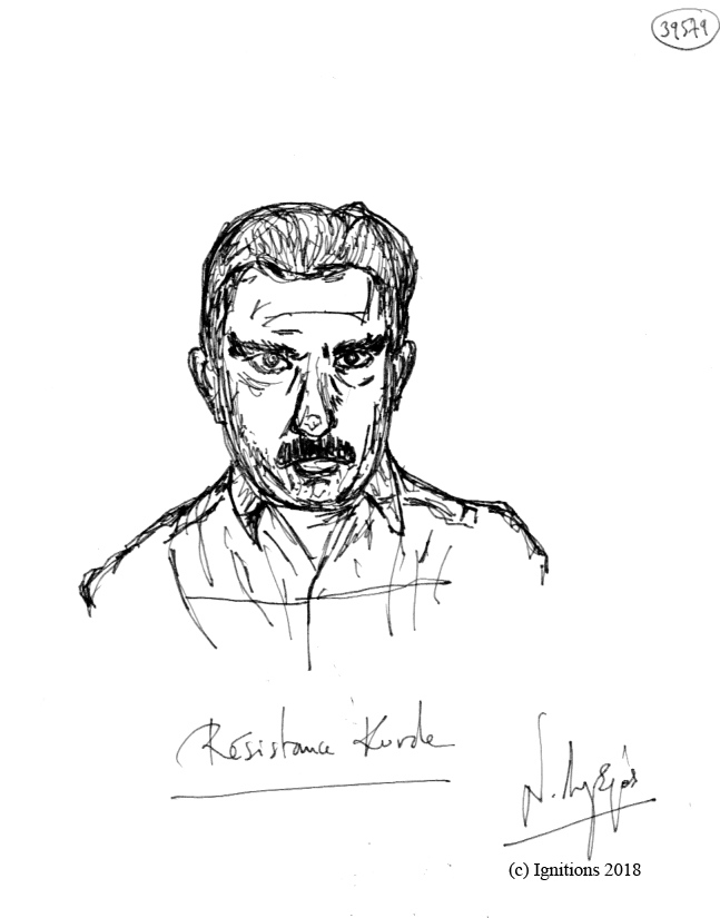 Résistance Kurde. (Dessin).