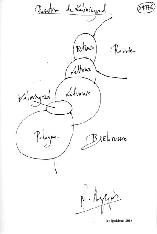 Position de Kaliningrad. (Dessin)