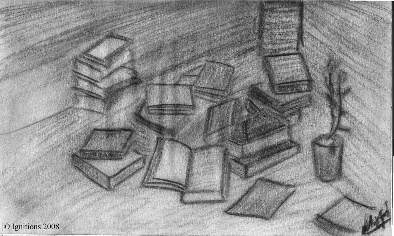Les livres et la rose.