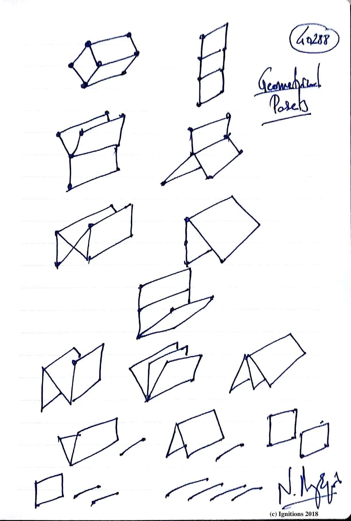 Geometrical Posets. (Dessin)