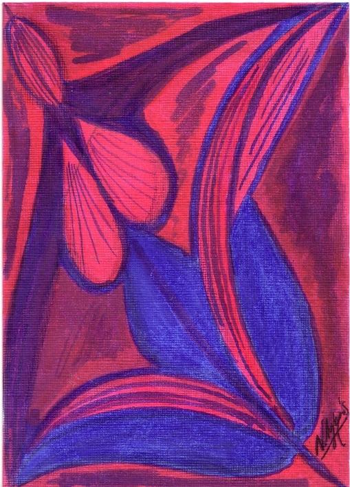 La femme-fleur.