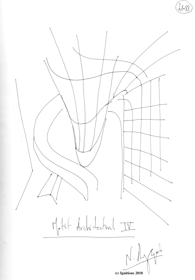 Motif Architectural IV. (Dessin)