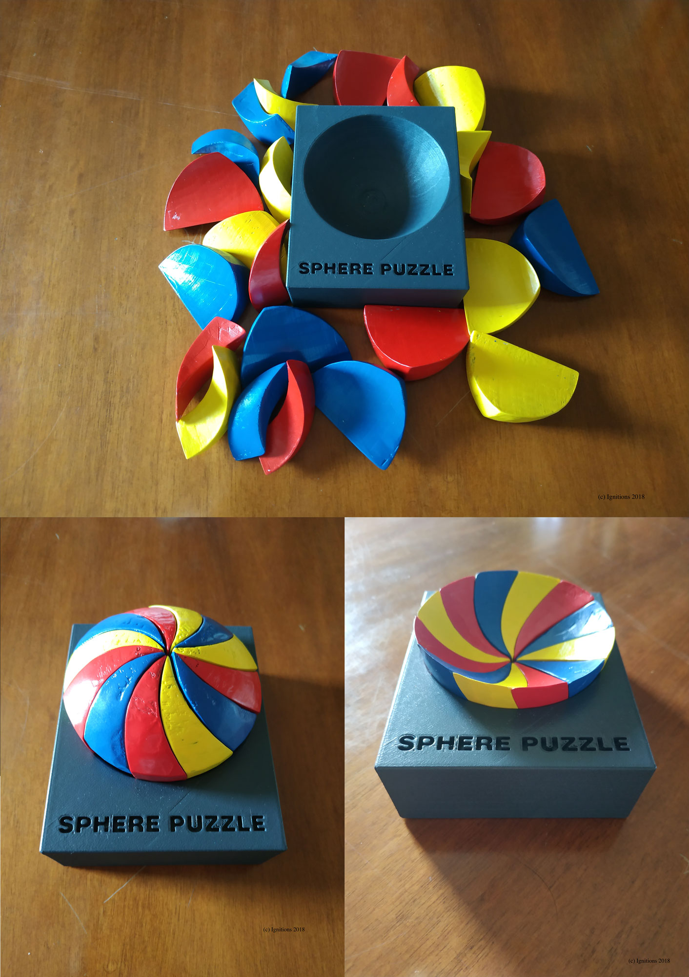 Construction of the Sphere Puzzle. (With R. Karteri)