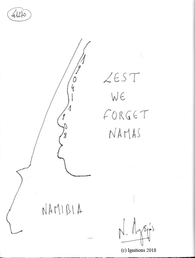 LEST WE FORGET NAMAS 1904-1908. (Dessin).