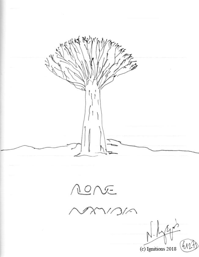 ALONE NAMIMBIA. (Dessin).