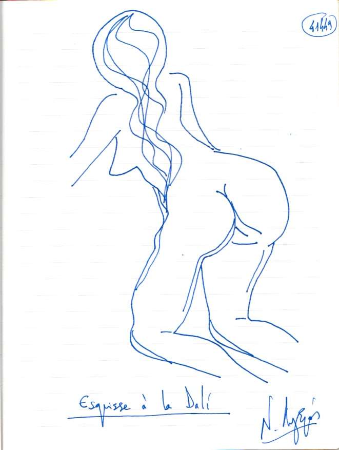 Esquisse à la Dali. (Dessin)