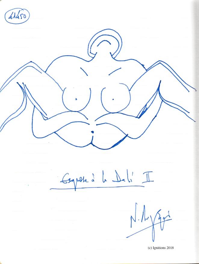 Esquisse à la Dali ΙΙ. (Dessin)